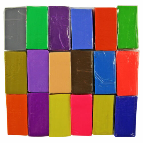 24 Colour Soft Oven Bake Polymer Clay Blocks Modelling Sculpting Art Design