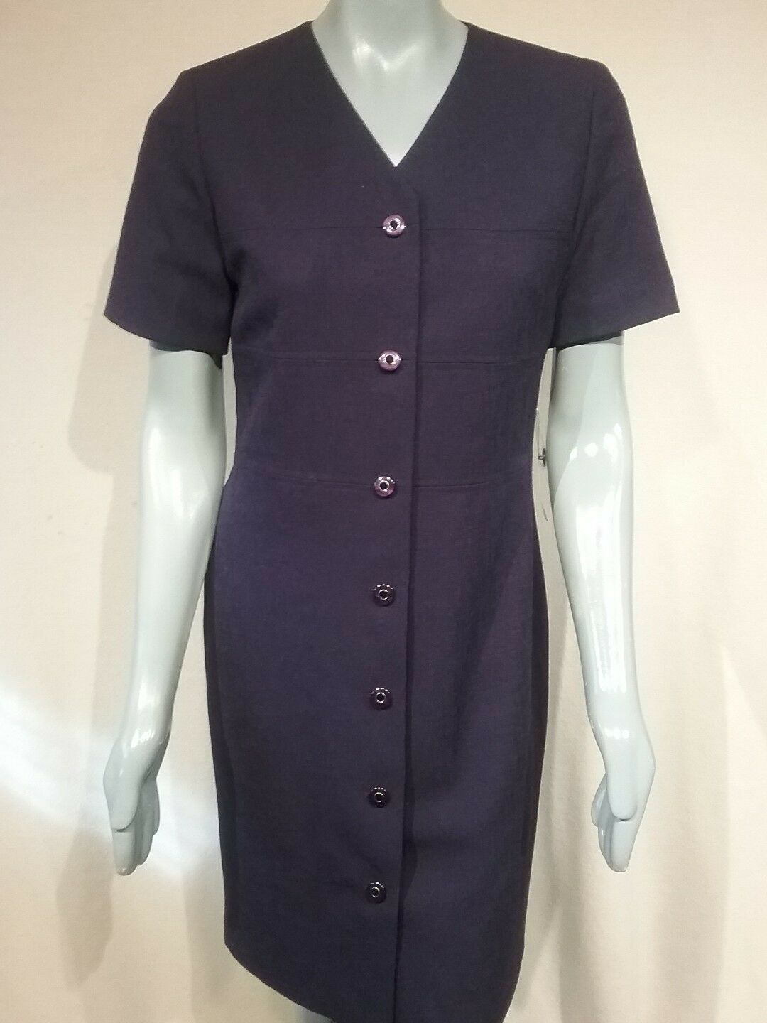 KASPER FOR A.S.L Career DRESS sz 8  Lined New With Tags New Grape Polyester. D46