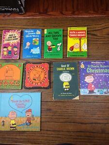 Lot-Of-9-Charlie-Brown-Charles-M-Schulz-Book-Bundle