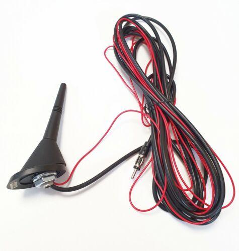 ✅ universal antena de radio techo 9cm brevemente vara 5 metros de cable antennenfuss auto KFZ ✅