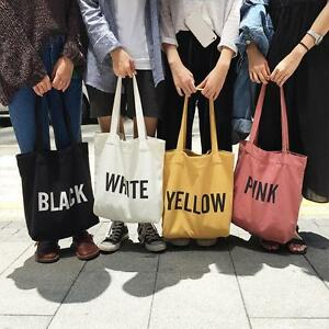 English Word Print Women s Shoulder Canvas Bag Eco Shopping Handbags Tote  Bag SS 4a40c011212c1