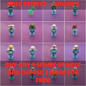 Lidl-Stikeez-Smurf-The-Lost-Village-2017-Characters-Choose-Ones-Needed-New