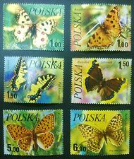 POLAND STAMPS 1Fi2369-74 Sc2227-32 Mi2516-21 - Butterflies, 1977,used