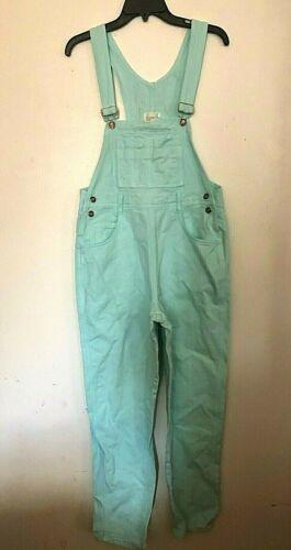Vintage 1990s mint green denim overalls Moda Inter