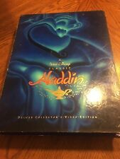 Aladdin Deluxe Collector's Video Edition  VHS  CD Book Lithograph set