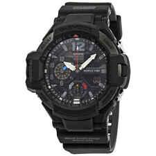 卡西歐 G-Shock Gravitymaster 鬧鐘世界時間黑色表盤男士腕表 ga1100-1a1