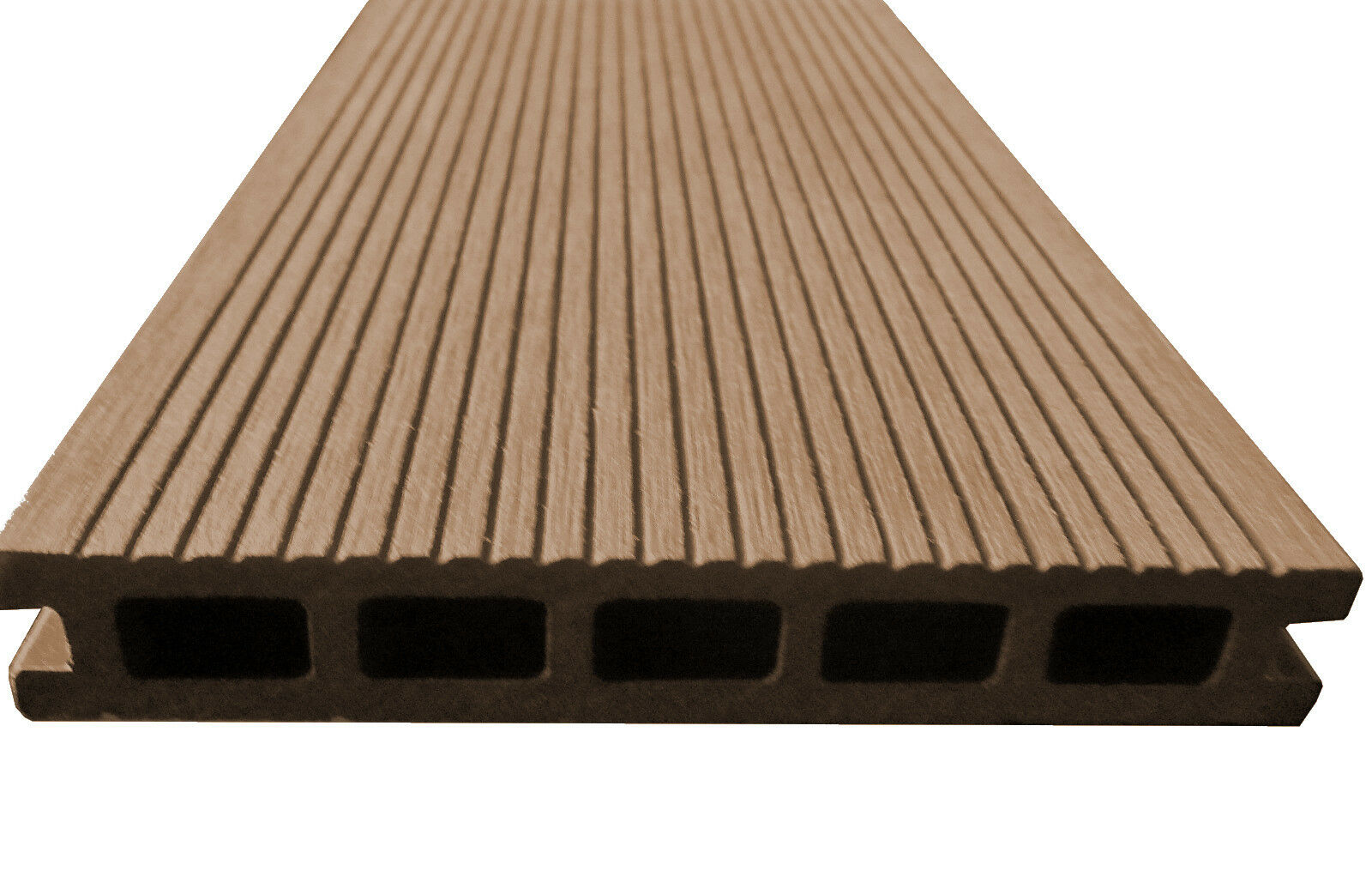 10m bpc terrassendielen 2 90m braun terrassenholz terrassendeck dielen holz wpc ebay. Black Bedroom Furniture Sets. Home Design Ideas