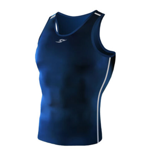 Take Five Mens Skin Tight Compression Base Layer Running Shirt S~2XL Navy 077