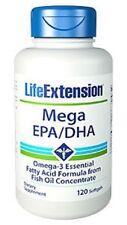 Life Extension Mega EPA/DHA 600mg 120 Softgels - Fettsäuren & Vitamine