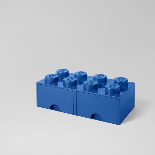 LEGO Storage Brick Stein mit Schublade stapelbar Drawer 8 Blau Blau