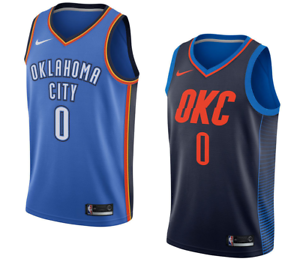 best website 55210 93801 Details about Oklahoma City Thunder Russell Westbrook Nike NBA Men's Icon  Swingman Jersey