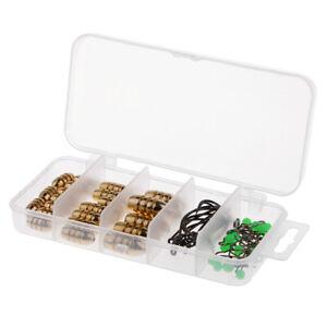 Karpfen-Angelgeraet-Kit-inkl-Gewichte-Platinen-Jig-Haken-Perlen