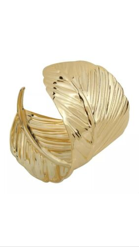 ADULT ROMAN GREEK GODDESS ATHENA GOLD LAUREL LEAF CUFF COSTUME BRACELET ARMBAND
