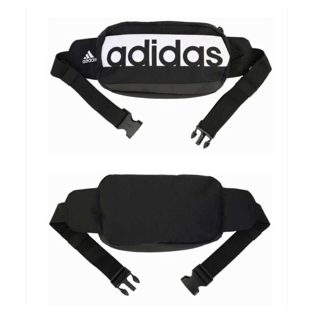 d7a163c1fa adidas 2017 Waist Bag Hip Pack Small Sports Bag Travel Gym Hiking - Black  White