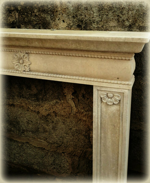 Camino In Pietra Leccese Stile Impero Fireplace Stone Classic Home Design
