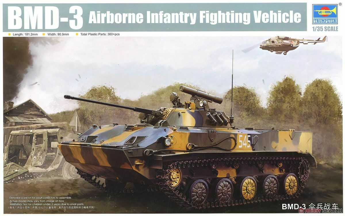 1 35 Trumpeter Russian BMD-3 Airborne Fighting Vehicle
