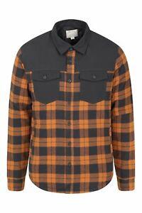 Mountain Warehouse Mens Flannel Padded Shacket Jacket Shirt