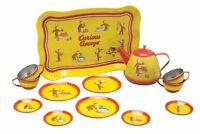 Schylling Curious George Tin Tea Set , New, Free Shipping