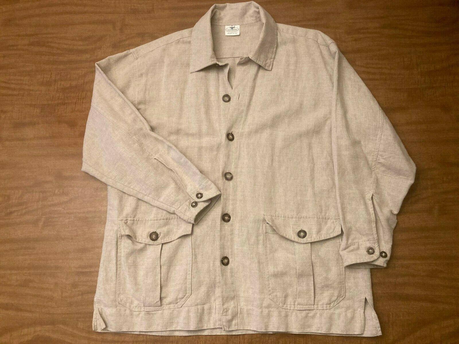 Vintage Jackeroos Linen French Workwear Shade Sum… - image 1