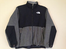 The North Face Boys Large Gray Denali Jacket Long Sleeve Youth