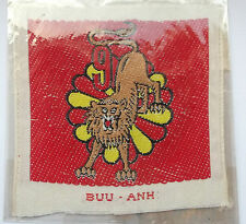 vietnam american war vintage  woven  9th batl  ARVN parachute forces patch