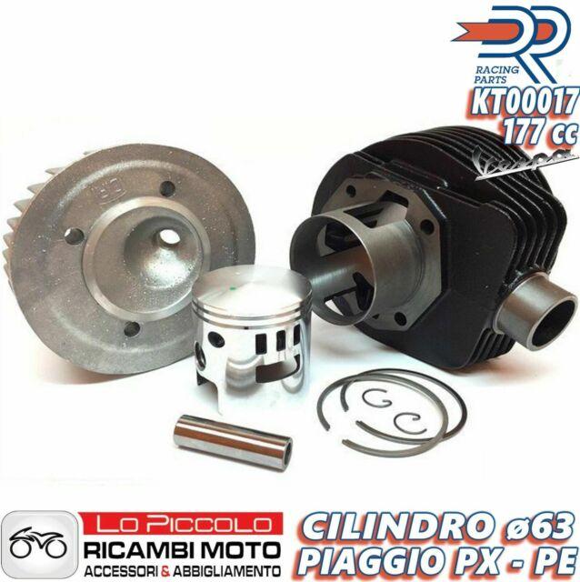 GRUPPO TERMICO DR CILINDRO MOTORE 177cc Ø63 VESPA PX 125-150 + CANDELA OMAGGIO