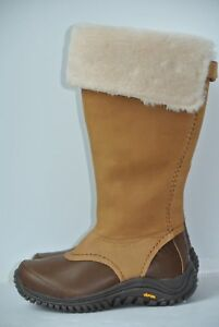 bc921c8e7a9 Details about UGG Australia Miko 5 Brown Leather Sheepskin Waterproof Tall  Boots 1013479 $300