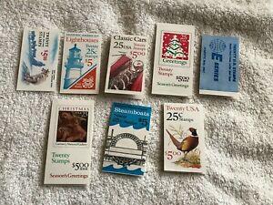 160 U.S MNH Mint collection .25 stamps 8 Booklets FV $40.00 #261
