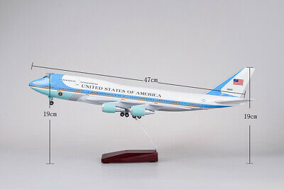1 150 Us Air Force One Airplane Model W Undercarriage Voice Lamps