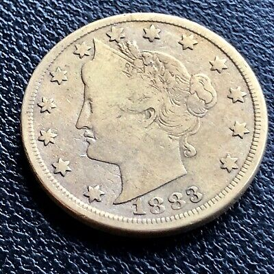 """1883 Gold Plated Racketeering /""""No Cents/""""  Liberty Head V Nickel  FREE SHIPPING"""