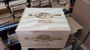 1 X 6 Bouteille Avec Couvercle-genuine French Wooden Wine Crate Box Noël Idée Cadeau-afficher Le Titre D'origine