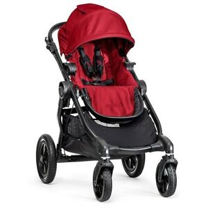 Baby-Jogger-2015-City-Select-Stroller-Red-Black-Frame-New-Free-Shipping