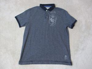 91fc3f767d0 Ralph Lauren Denim   Supply Polo Shirt Adult Large Navy Blue White ...