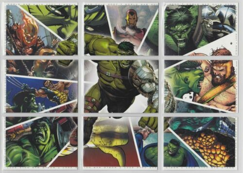 Marvel Universe 2011 90 card 9 card puzzle pages Base Set by Rittenhouse 2011