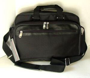 PERRY-ELLIS-PORTFOLIO-Black-Nylon-Computer-Laptop-Case-Briefcase-Bag-NEW-NWT