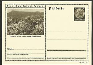 Vintage Postcard- German City Blutenschmuck, Hindenburg Stamp, 1930's, Unposted