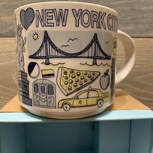 Starbucks Coffee Mug New York City 14 oz Been There Series Across Globe NYC