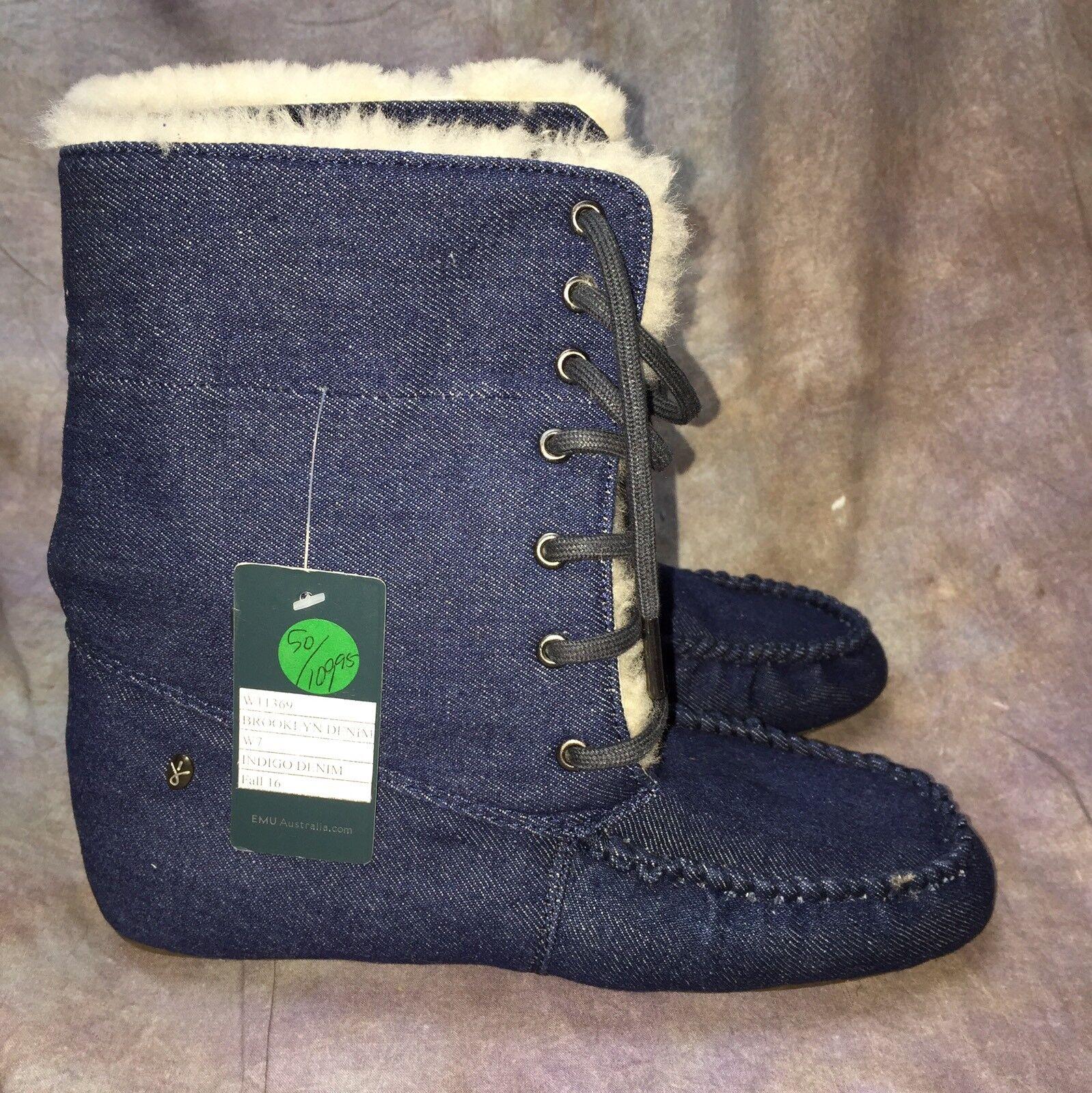 SCJ Women's Emu Australia Brooklyn Boot indigo Denim Size 7