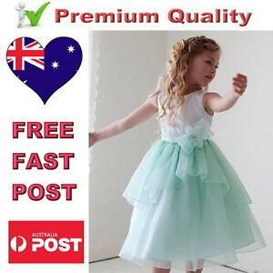 096a057a9 White   Mint Flower Girl Dress Satin   Organza Girls Party Dress ...