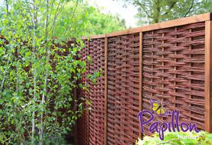 Détails sur Panneau Extérieur en Osier avec Cadre - Papillon™ Canisse Saule  Clôture Jardin