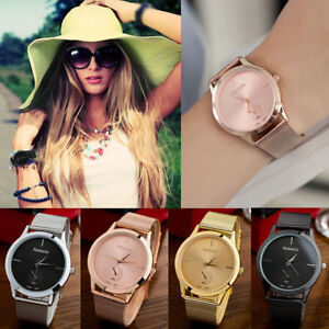 UK-Women-Ladies-Bracelet-Stainless-Steel-Unisex-Dial-Analog-Quartz-Wrist-Watch