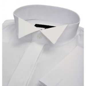 PAGE BOYS NEW WHITE WING COLLAR WEDDING DRESS SHIRT AGES 2 4 6 8 - Wedding Dress Shirt