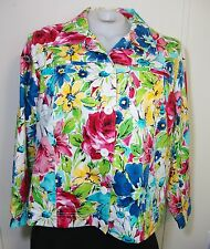 Laura Ashley Woman Floral Jean Jacket Plus 2X