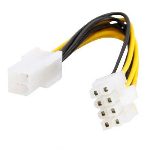 ATX 4 Pin male to 8 Pin Female EPS Power Supply PSU Cable Adapter 4-inch