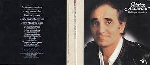 CD Charles AZNAVOUR Voilà que tu reviens (1976) Gatefold Card board sleeve Repli
