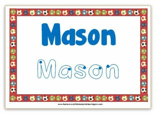 EYFS pen Learn to Write Your Name Starting School Personalised Name Card