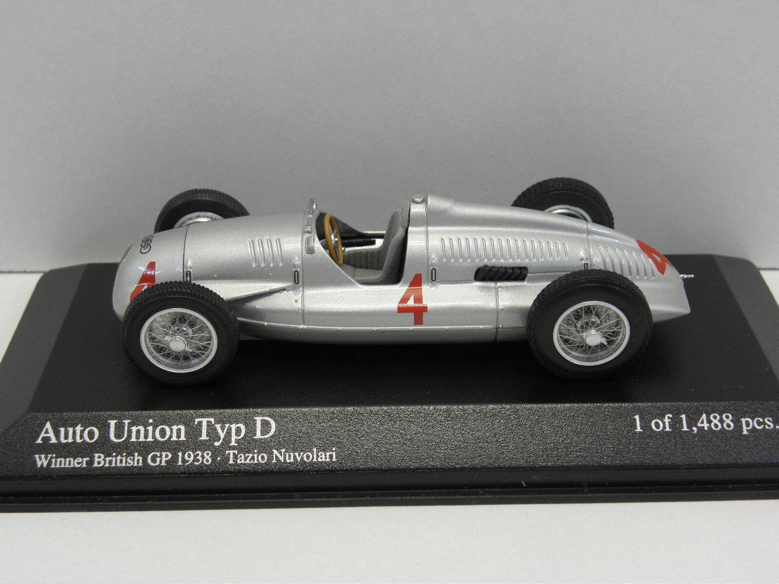 MINICHAMPS 400380004 sammelmodell AUTO UNION TYPE D winner BRITISH GP 1938 M .1  43