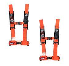 "Pro Armor 4 Point 3 "" Cinture Sedile Imbracatura Arancione Coppia Polaris Rzr800"