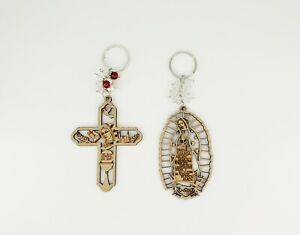 12X-Baptism-Wood-Lady-of-Guadalupe-Keychain-Recuerdos-de-Bautizo-Communion-Favor