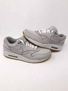 Details about Nike Air Max 1 LTR Premium Nubuck Grey Suede 705282 005 Men Size 11 Fast Ship